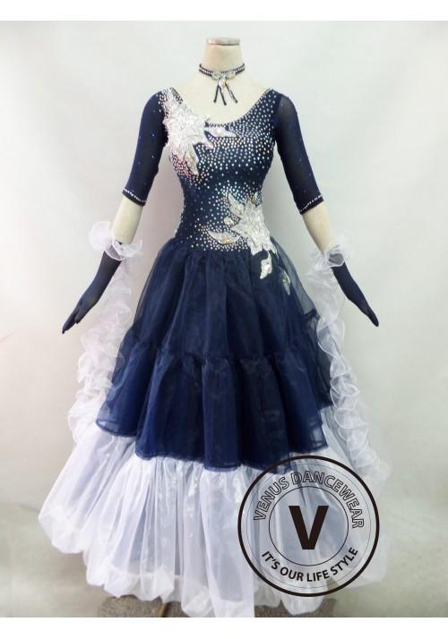 Navy Competition Ballroom Dance Dress