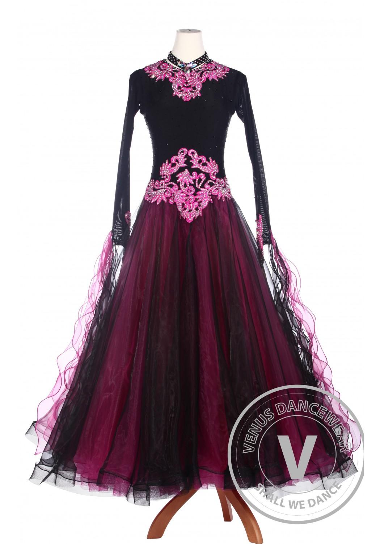 Black Rose Elegant Ballroom Waltz Tango Standard