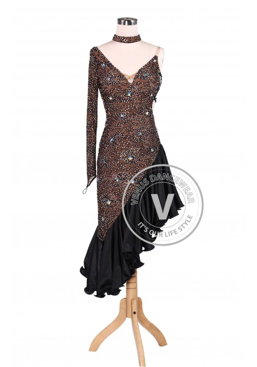 Chocolate Latin Rhythm Champion Competition Dress