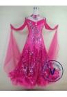 Pink Elegant Women Ballroom Tango Waltz Salsa Standard Ballroom Competition Dress
