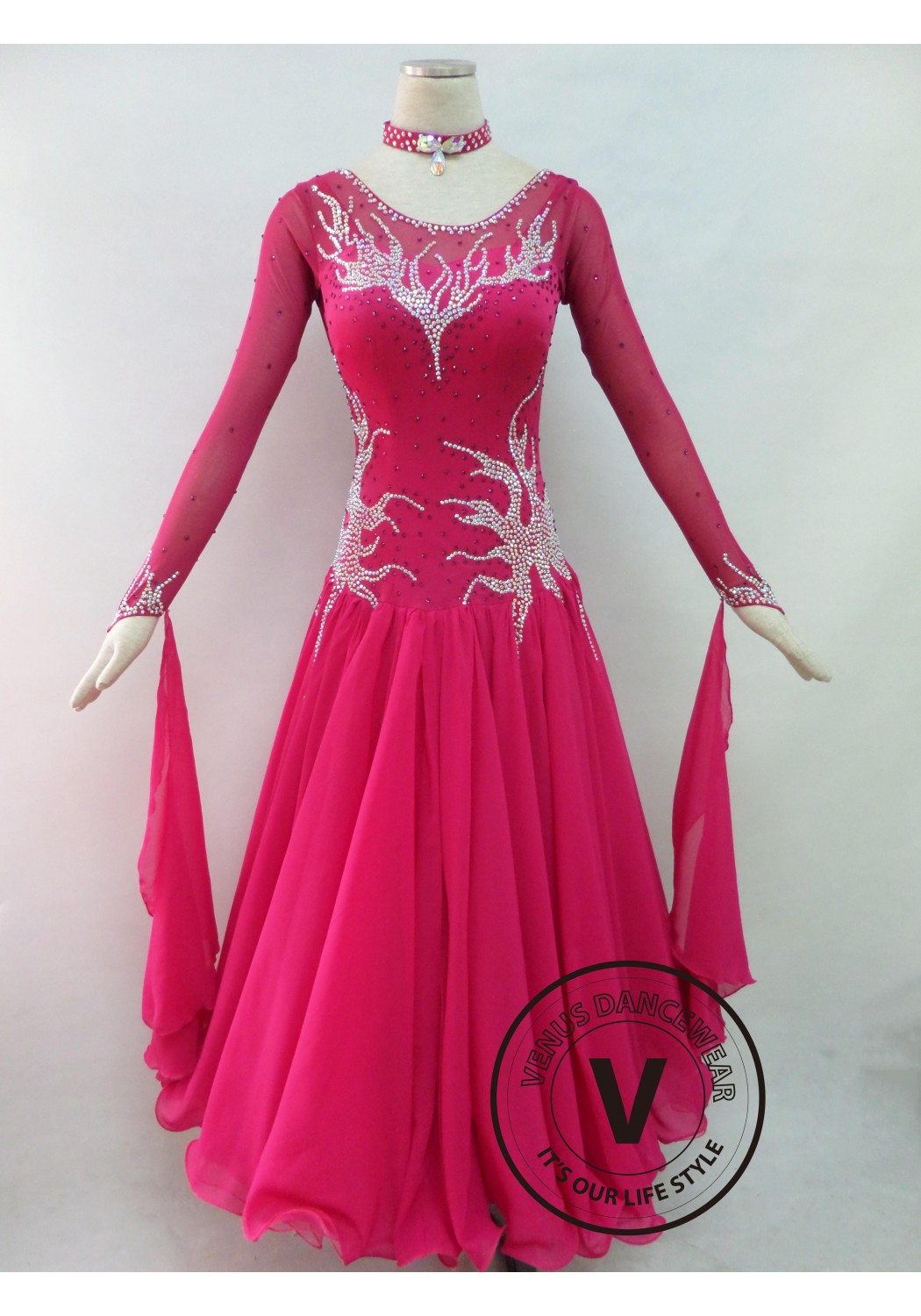 Rose Competition Ballroom Dance Dress