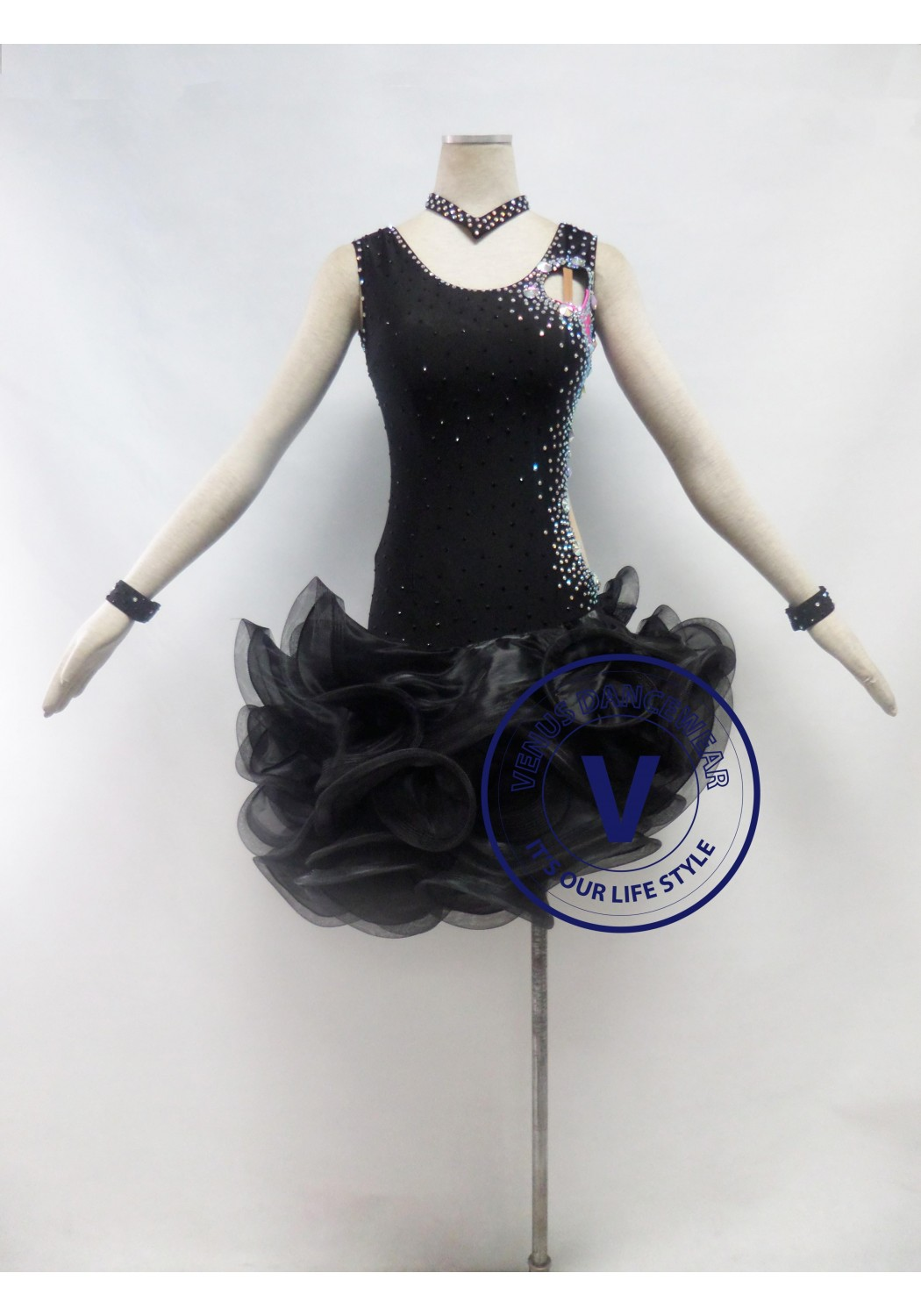 Black Competition Latin Dancing Dress