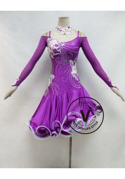 Purple Competition Latin Dancing Dress