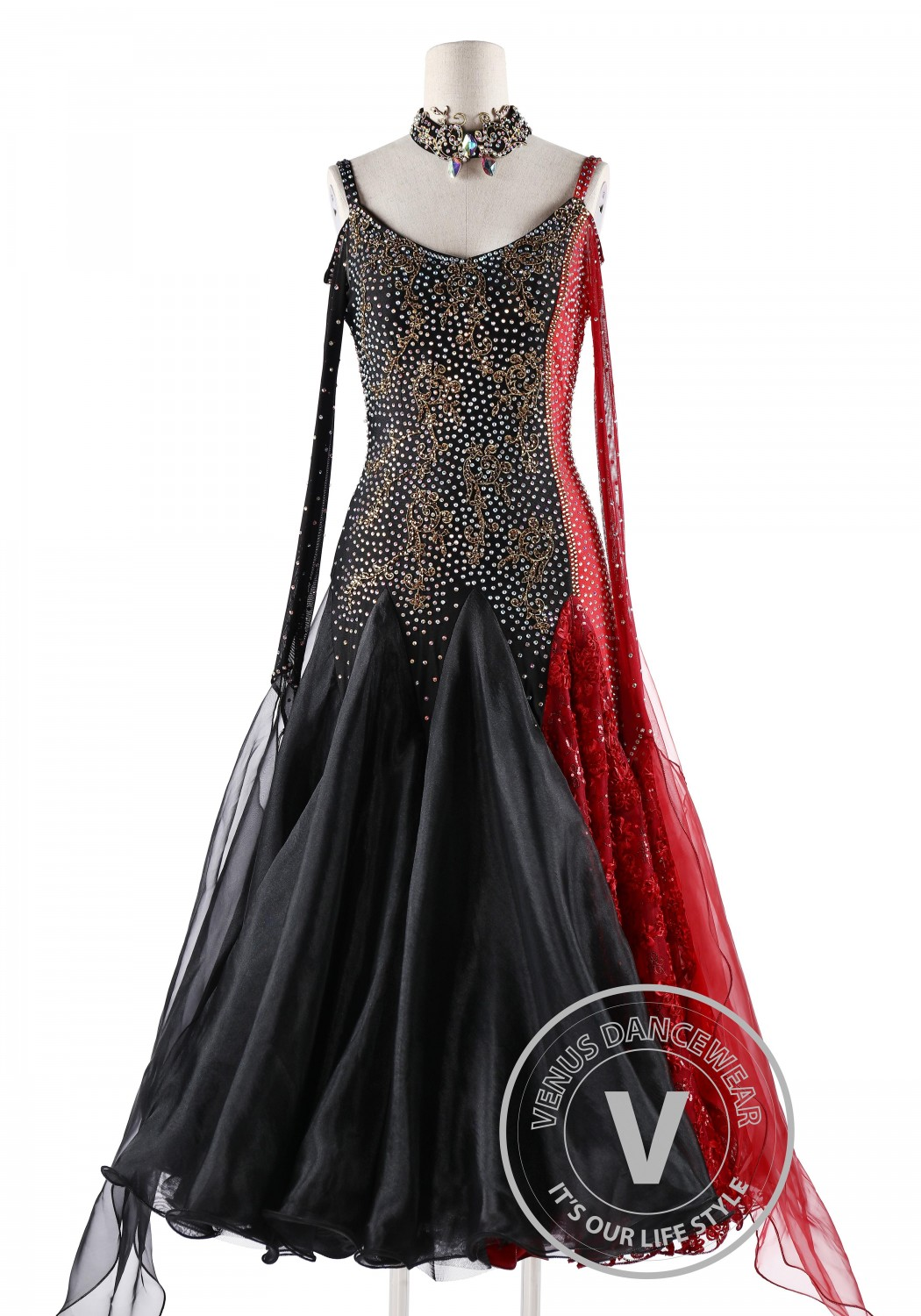 Le Vampire Competition Waltz Swing Tango Dance Dress