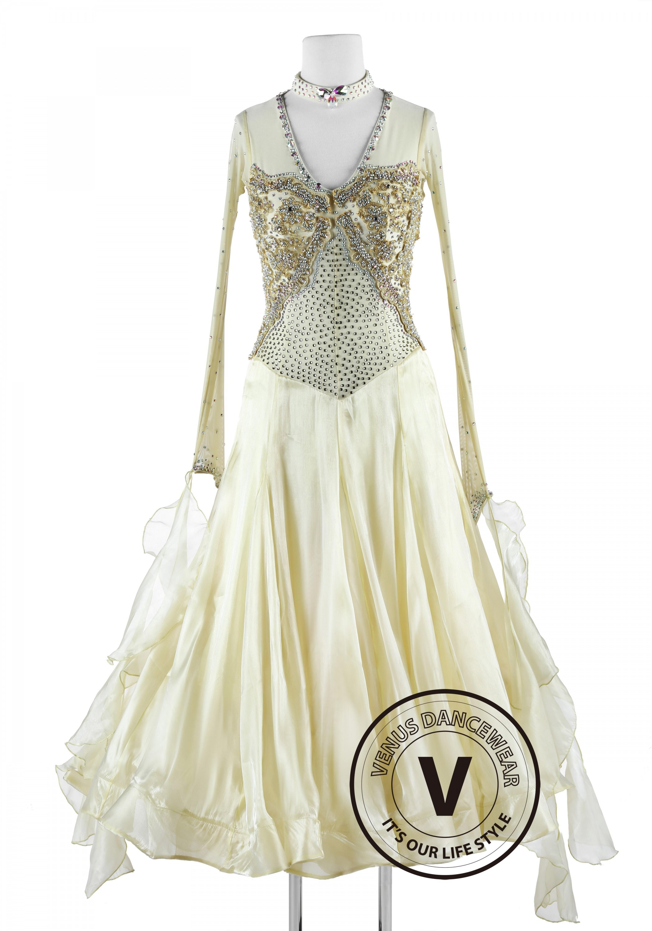 Ivory Imperial Style Standard Waltz Tango Competition