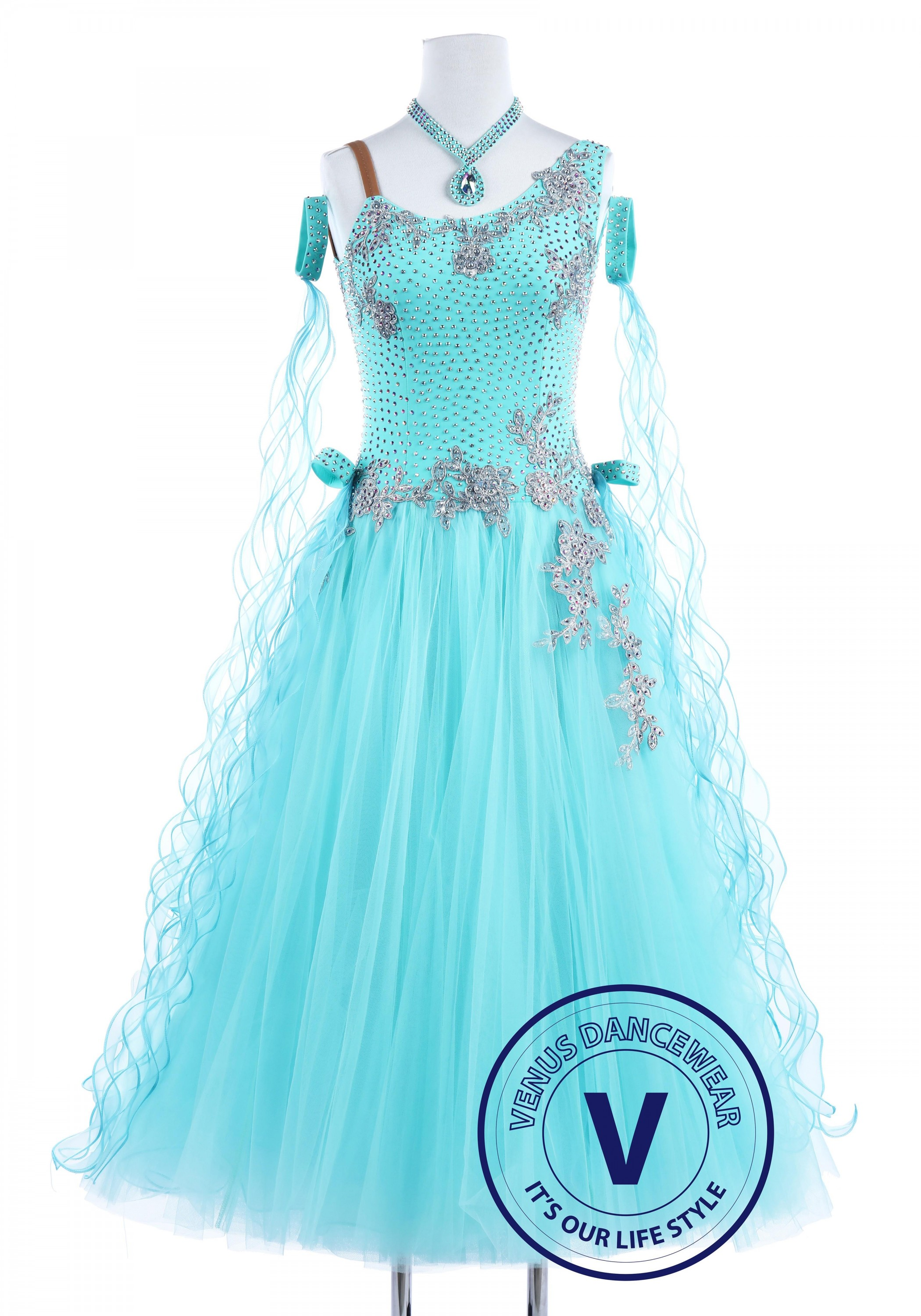 Baby Blue Swan Smooth Waltz Quickstep Women Dancing petition