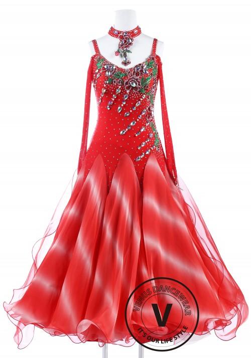 Lava Flame Standard International Foxtrot Waltz Quickstep Dress