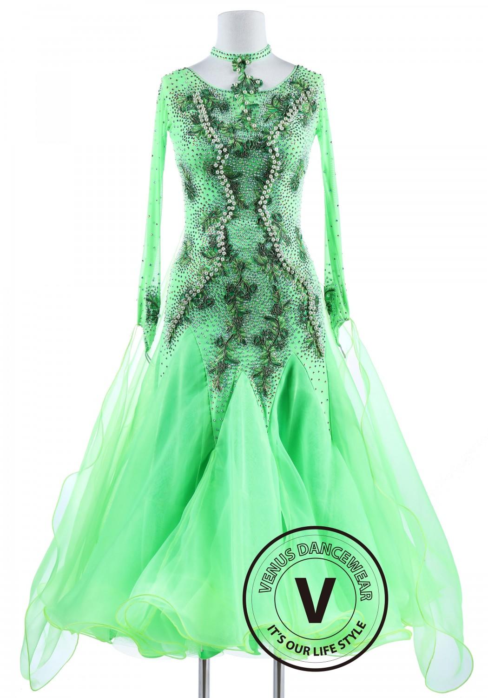Pearls on Grass Smooth Foxtrot Waltz Quickstep Dress