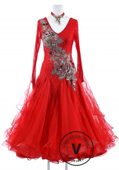 Burning Phoenix Standard Smooth Foxtrot Waltz Quickstep Dress