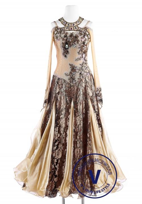 Imperial Court Floral Standard Foxtrot Waltz Quickstep Dress