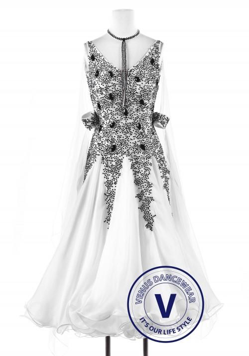 Snowflake Obsidian Standard Smooth Foxtrot Waltz Quickstep Dress