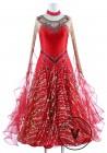 Christmas Style Standard Foxtrot Waltz Quickstep Competition Dress