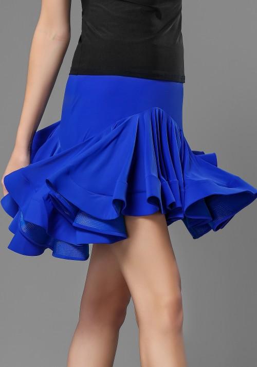 Flare Cap Sleeve Latin Skirt