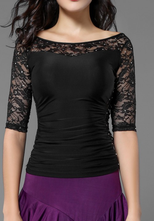 Luxury Lace Short Sleeve Top