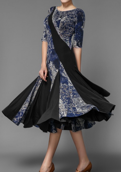 Ballroom Smooth Floral Crepe Practice Dress