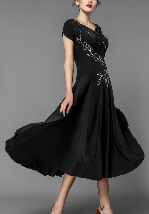 Luxury Crepe Stoned Ballroom Practice Dance Dress