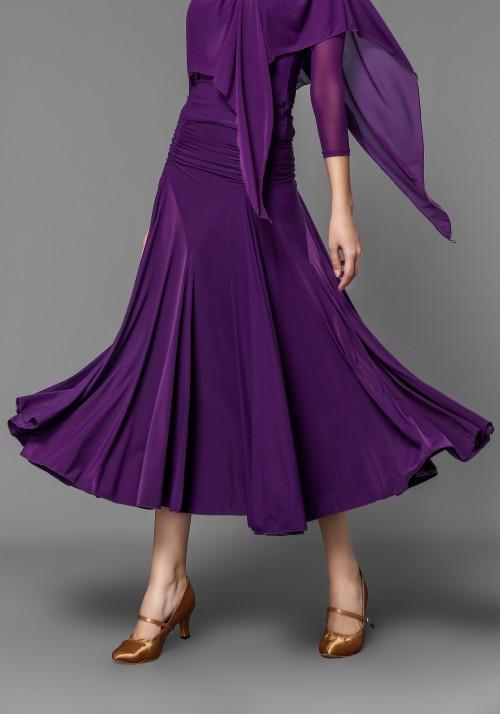 Ballroom Smooth Fuchsia Crepe Pleated Skirt