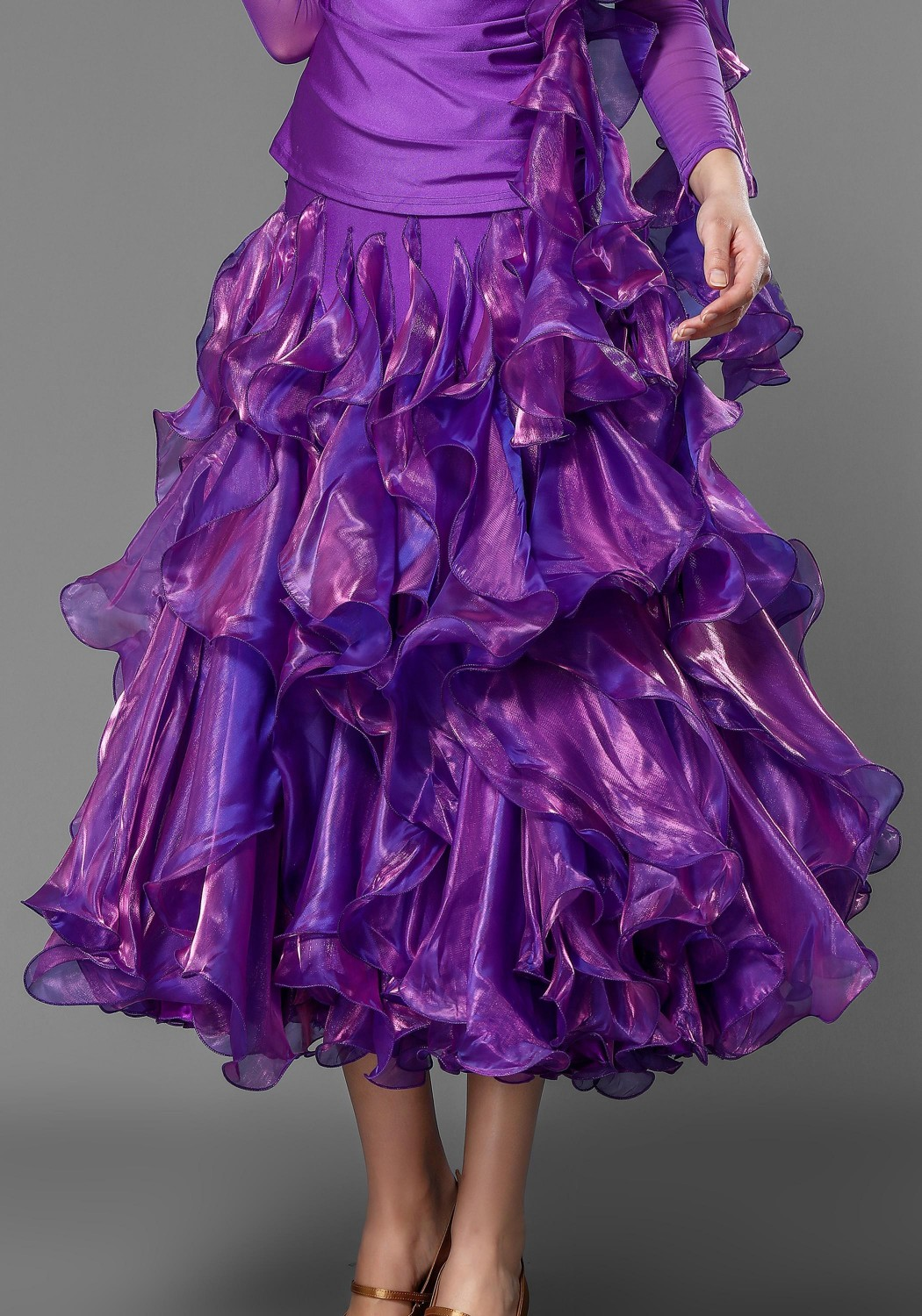 Bright Purple Gorgeous Flounced Skirt