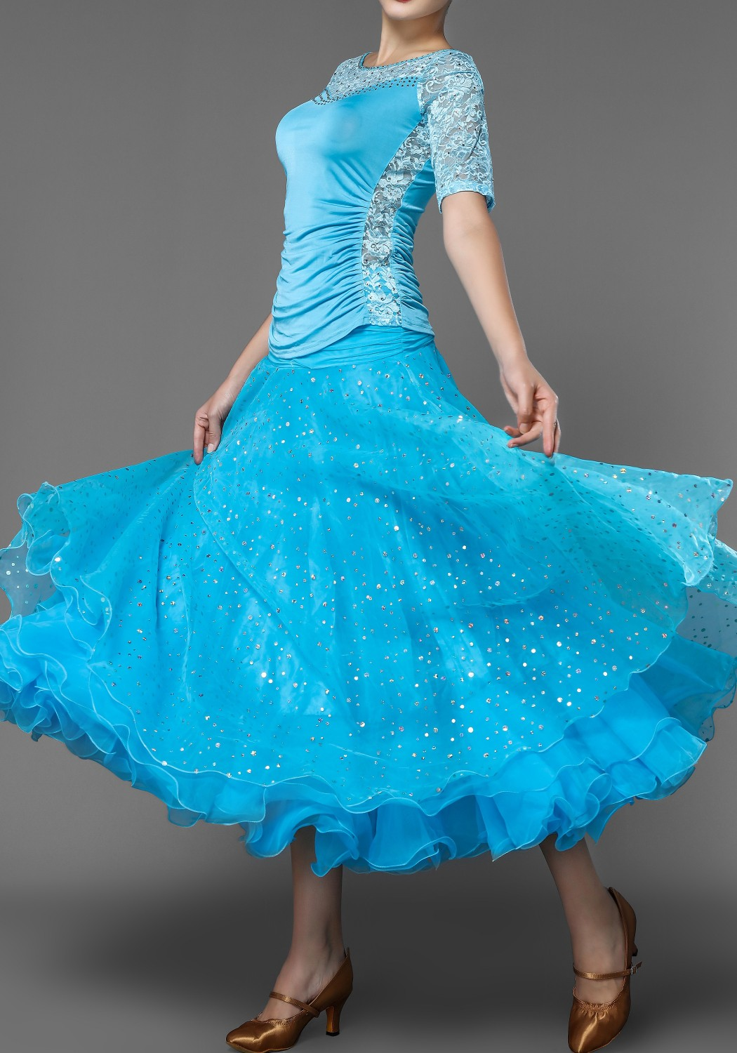 Ballroom Organdy Practice/Competition Skirt