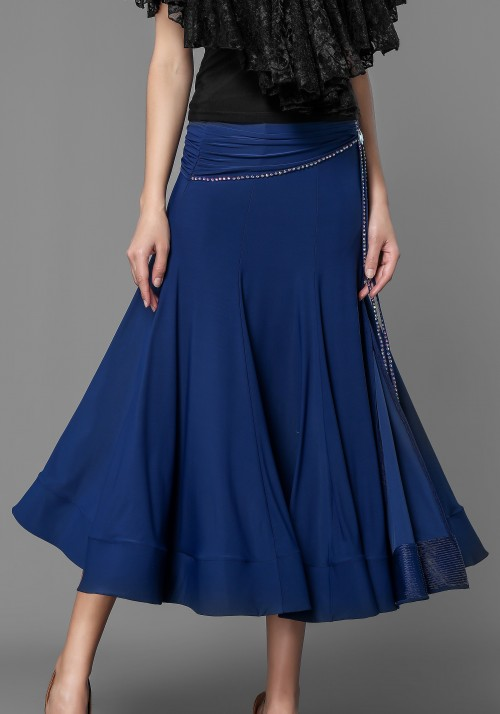 Luxury Crepe Stoned Ballroom Smooth Skirt