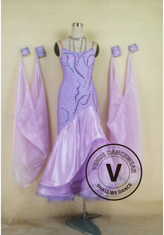 Light Purple Formal Gown Women Ballroom Tango Waltz Foxtrot Standard ...