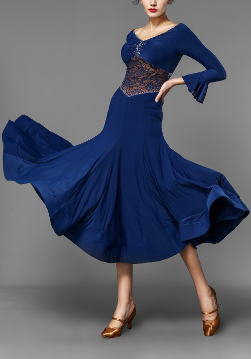 Sexy Lace Crepe Ballroom Smooth Practice Dress