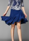 Midnight Sky Ruffle Latin Rhythm Dance Skirt