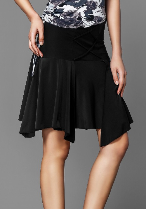 Black Ruffle Latin Rhythm Skirt