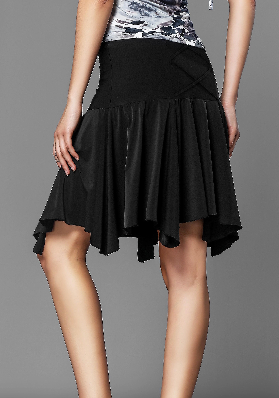Black Ruffle Latin Rhythm Skirt