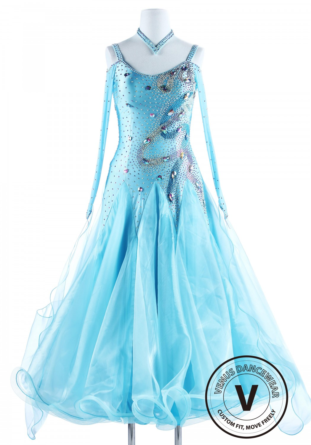 Baby Blue International Standard Waltz Ballroom Competition Dress