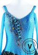 Blue Peacock Latin Rhythm Chacha Dance Competition Dress