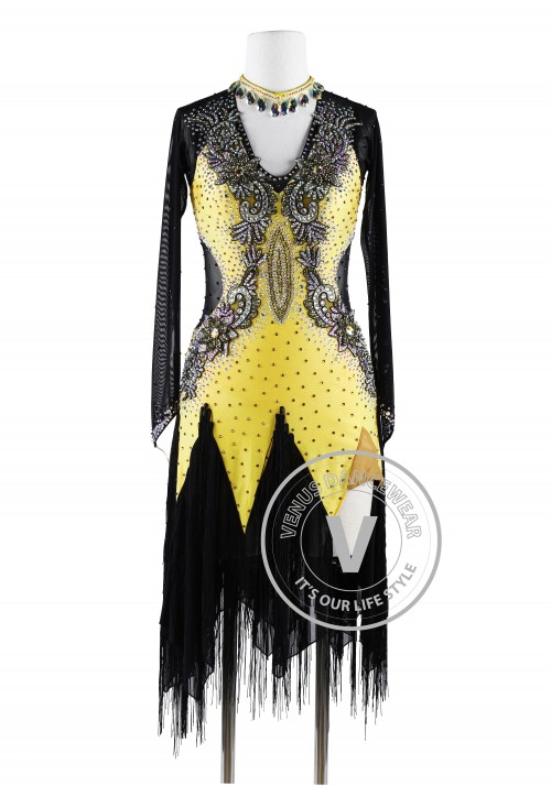 Royal Noble Elegent Latin Rhythm Chacha Salsa Competition Dress
