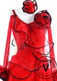 Red Vintage Ballroom Competition Dance Dress