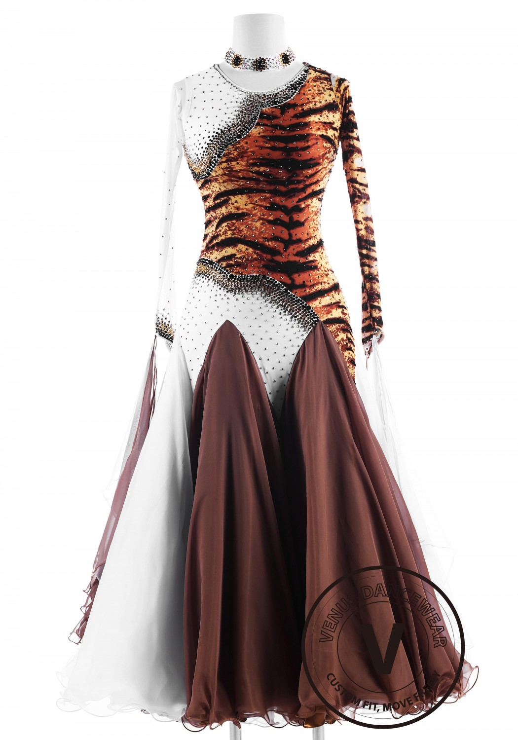 Tiger Stripes Ballroom International Competition Dance Dress