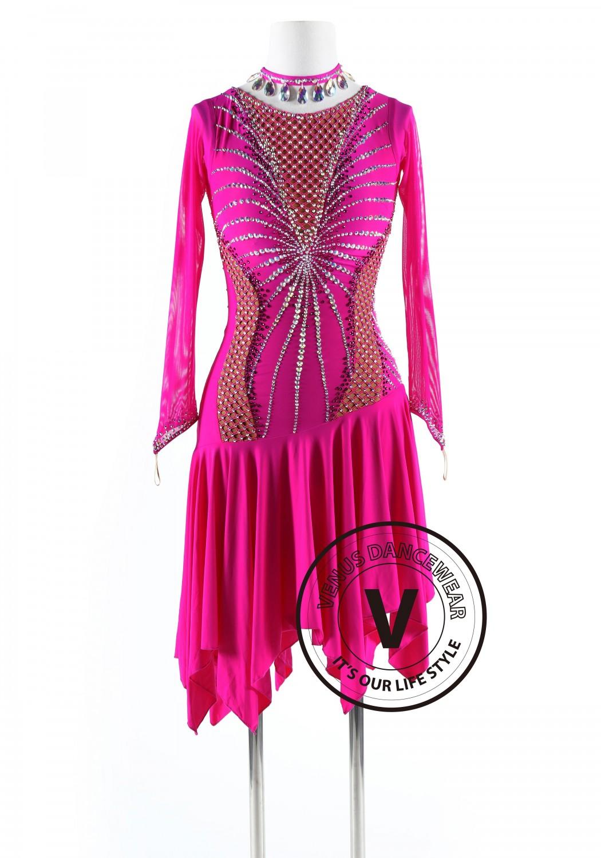 Spider Queen Latin Rhythm Competition Dance Dress