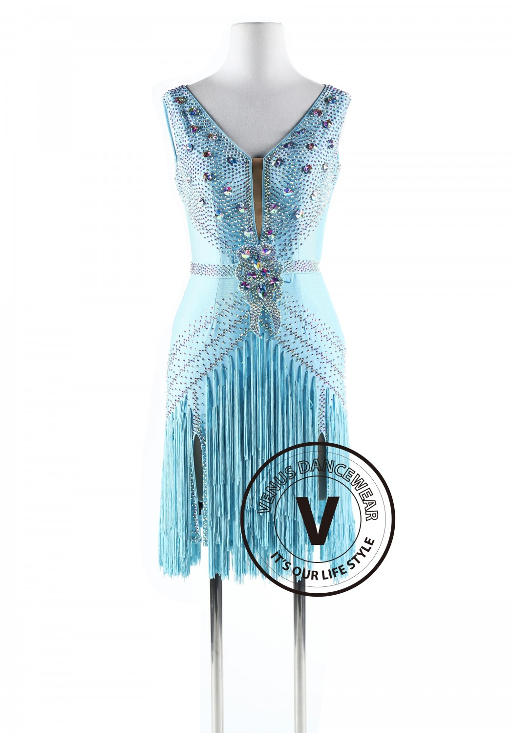 Ice Queen Latin Rhythm Competition Dance Dress