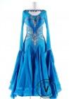 Lake Spirit Luxury Satin Chiffon Ballroom Competition Dance Dress