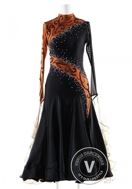 Black Pearl Princess Ballroom Competition Dance Dress