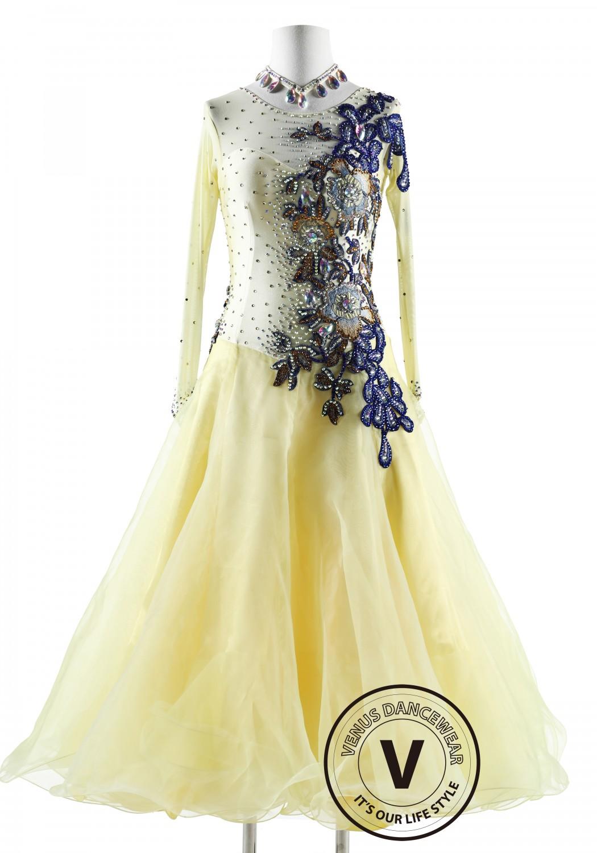 Berry Cream Ballroom Competition Dance Dress