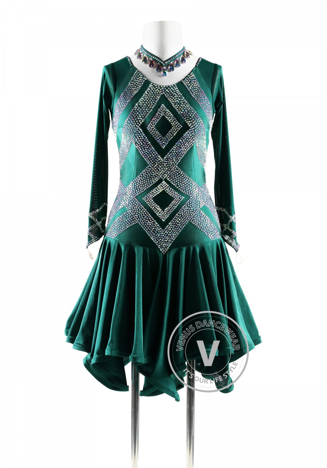 Forest Queen Latin Rhythm Competition Dance Dress