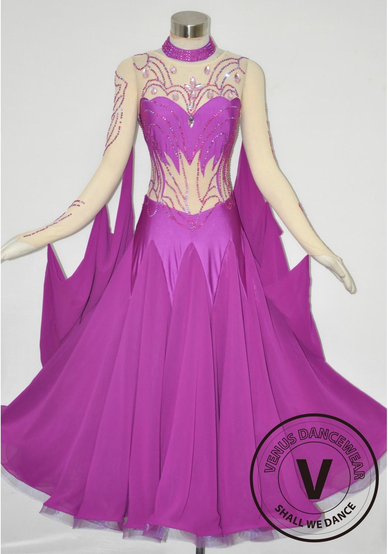 Purple Sexy Women Waltz Smooth Standard Ballroom Dance Dress Collection