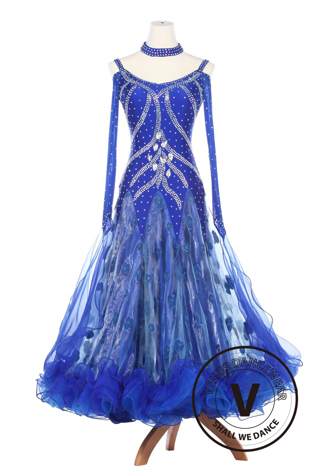Water Fariy Smooth Foxtrot Watlz Ballroom Standard Competition Women Dress