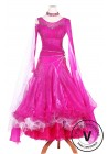 Pink Beautiful Standard Smooth Tango Waltz Competition Ballroom Dress