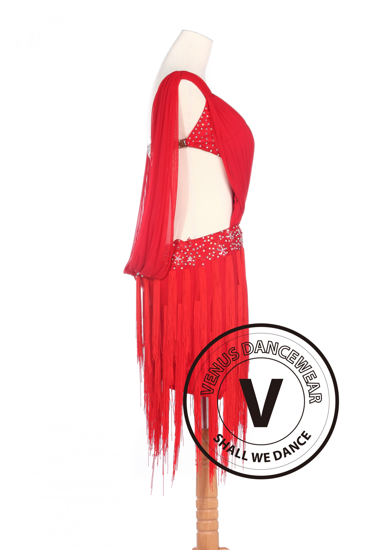 9ad81fc42 Red Latin Rhythm Salsa Rumba Latin Competition Dancing Dress